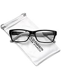Clear Lens Rectangular Glasses (S-M Size)