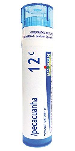 (Boiron Ipecacuanha 12C, 80 Pellets, Homeopathic Medicine for Nausea)