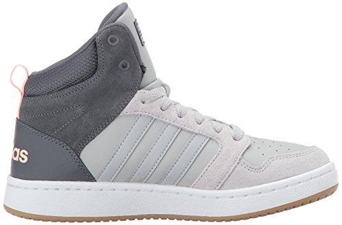 Adidas Neo Donna Cf Superhoops Mid W Scarpa Da Basket Grigio Cinque / Grigio Due / Rosa Ghiaccio