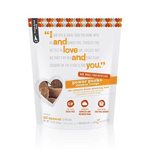 I And Love And You, Freeze Dried Dog Food Power Pucks, Chicken Recipe, 7.2 Ounces