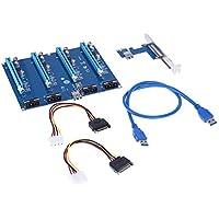 New PCI-E X1 to 4PCI-E X16 Expansion Kit, PCI-E Slots Adapter Extender Riser Card for BTC Mining Ethereum Mining ETH