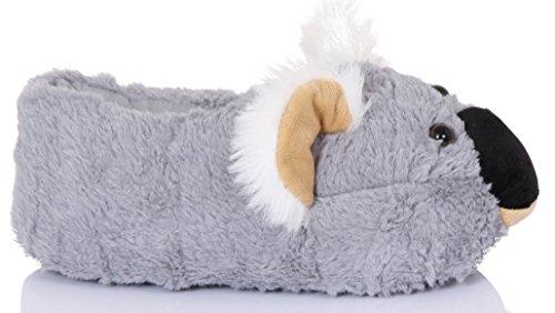 Damen Loungeable Neuheit 3D Tier Hausschuhe Kiki Koala