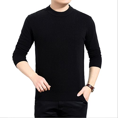 Mens Long Sleeve Casual Stripe Crew-Neck Knit Sweater Pullover