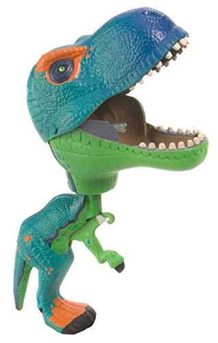(Wild Republic T-Rex Toy, Gifts for Kids, Squeeze trigger to close mouth, Green Chompers 9.5 Inches)