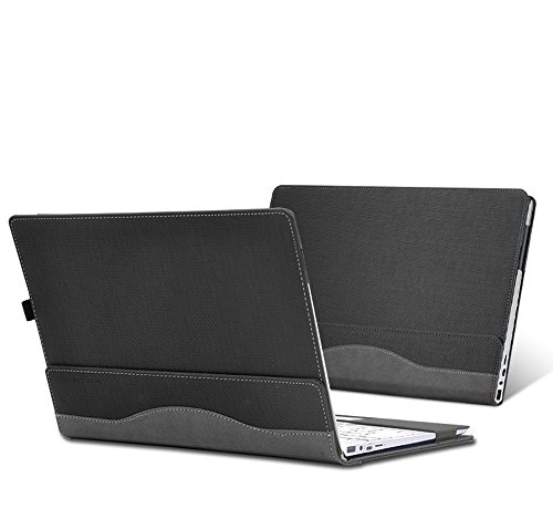 Case For Hp Spectre X360 15.6 inch, PU Leather Folio Stand Hard Cover for Hp Spectre x360 15t touch/15-CH011NR 15.6 inch 2 in 1 Laptop Cover Case (NOT FIT 15-AP000/15-BL000 Series),Grey