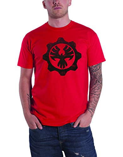 Gears Of War 4 T Shirt Phoenix Omen Gear Seal Logo Official Mens Red
