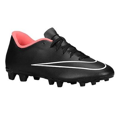 Nike Men's Mercurial Vortex II FG Black and Hyper Punch White Cricket Shoes  - 5.5 UK