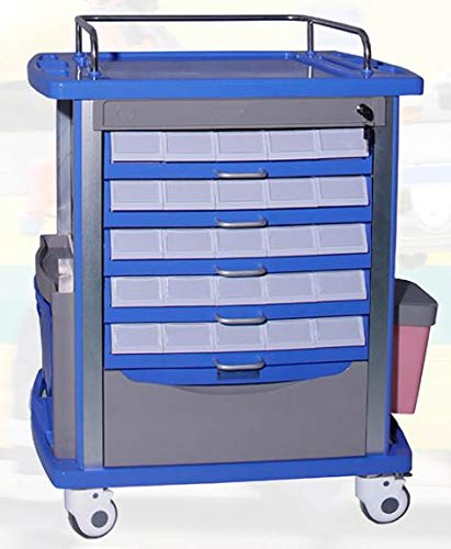 MS3C-200T, Lite Mobile Medication Cart with Chart Rack