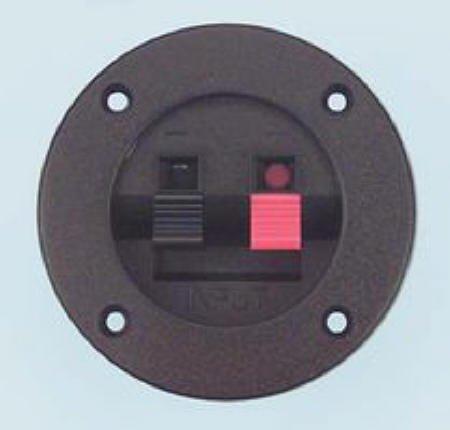 Binding Post, Round Cup Speaker Terminal, Black, Red ()