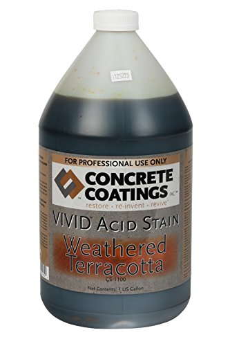 VIVID Acid Stain - 1 Gal - Weathered Terracotta (Red/Orange Terra Cotta) (Concrete Acid Stain Colors)