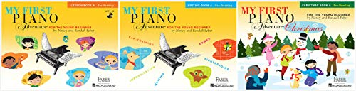 (My First Piano Adventure® Book A Set (3 Books) - Lesson Book A, Writing Book A, Christmas Book A)