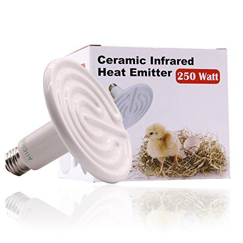 (Aiicioo 250 Watt 110 Volt Ceramic Heat Emitter for Reptiles or Amphibians White )