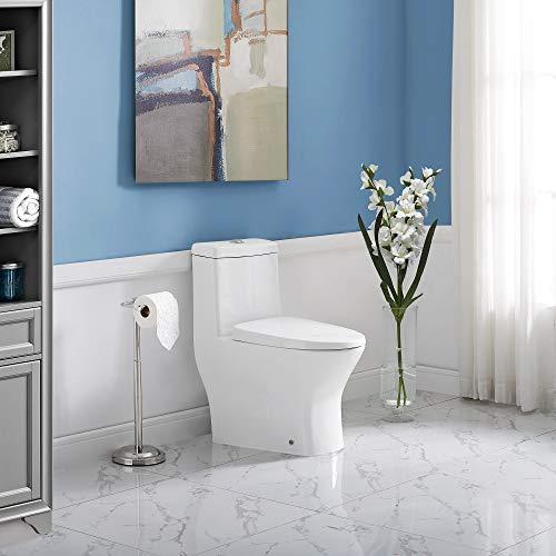 Swiss Madison SM-1T257 Sublime One Piece Toilette, Blanc Brillant