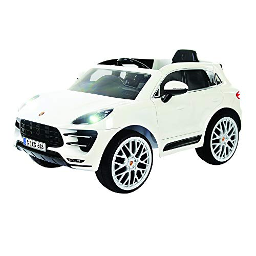 Rollplay 6 Volt Porsche Macan Ride On Toy, Battery-Powered Kid's Ride On Car (Radio White Noise Pedal)