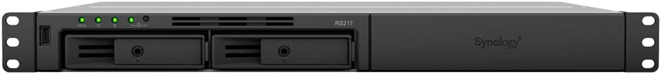 Synology RackStation RS217 Ethernet Bastidor (1U) Negro NAS - Unidad Raid (6 TB, Unidad de Disco Duro, Unidad de Disco Duro, SSD, 3000 GB, SATA, Serial ATA II, Serial ATA III, 2.5,3.5