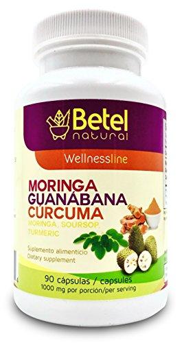 Moringa Guanabana and Curcuma 90 Capsules – Betel Natural For Sale