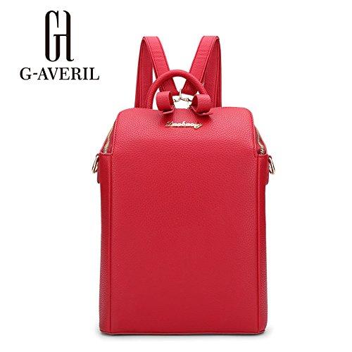 G-AVERIL GA1109-B - Bolso mochila para mujer negro negro Red