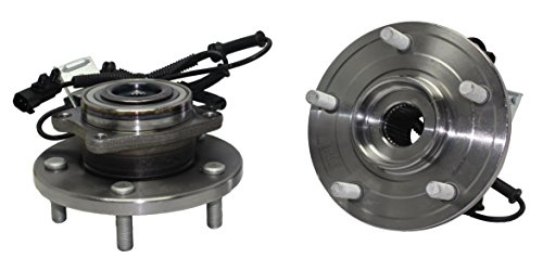 [Brand New (Both) Front Wheel Hub and Bearing Assembly 2008-12 Town&Country Grand Caravan 5 Bolt w/ ABS (Pair) 513273 x2] (Country Front Hubs Bearings)