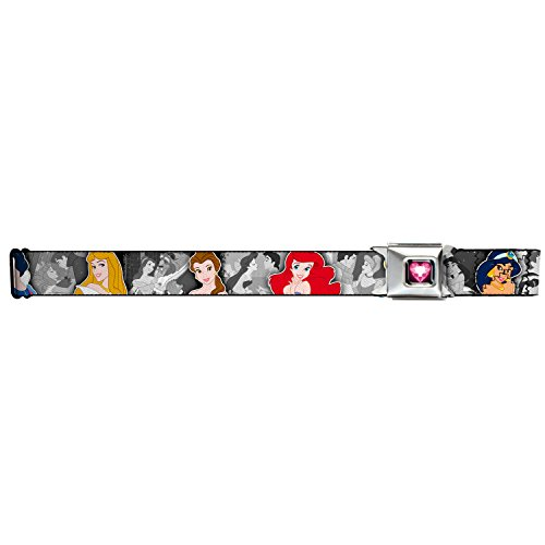 Walt Disney Seatbelt Belt - Disney Princesses Repeating w/ Romantic Partners
