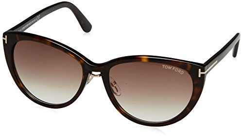 Tom Ford 345 52F Tortoise Gina Cats Eyes Sunglasses Driving Lens Category 2 - Sunglasses Eyes Tom Ford Cat
