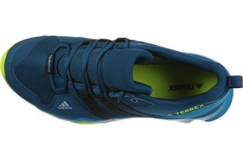adidas Unisex-Kinder Terrex Ax2r CP K Trekking-& Wanderhalbschuhe, Blau verschiedene Farben (Azunoc / Negbas / Seamso)
