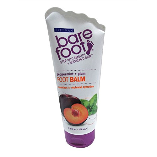 (Freeman Bare Foot Softening Foot Balm, Peppermint & Plum 5.30 oz (Pack of 3))