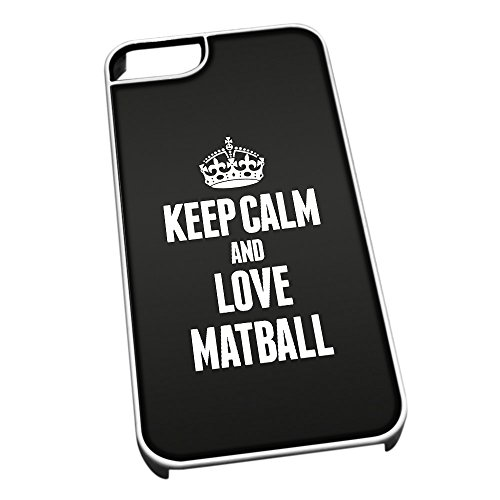 Bianco cover per iPhone 5/5S 1827 nero Keep Calm and Love Matball