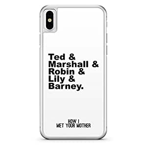 Apple iPhone X Transparent Edge How I Meet You Mother Team HIMYM - Multi Color