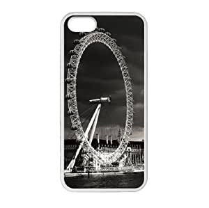 Best Custom Classic London Eye Pattern Design Apple iphone 5 or 5s TPU (Laser Technology) Case, Cell Phone Cover
