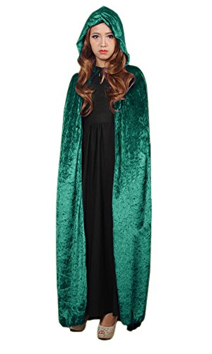 LifeWheel Halloween Grim Reaper Cloak Hooded Wizard Witch