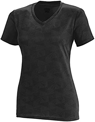 bdc0f194a485 Augusta Sportswear Women's Elevate Wicking Shirt, Black/white Print, X-Large