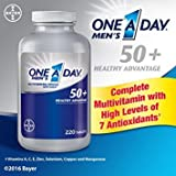 One A Day Men's 50 Plus Advantage Multi-Vitamins, 2pack of 220tablets each For Sale
