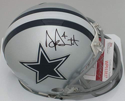 Cowboys Autographed Dallas Pro Helmet - Cowboys Dak Prescott Autographed Signed Dallas Mini Helmet Signature - Pro Bowl Memorabilia - JSA Authentic