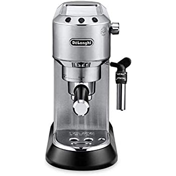 M DEDICA 15-Bar Pump Espresso Machine Coffee Maker, Stainless Steel, 220 Volts (Not for USA - European Cord)