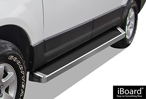 APS iBoard (Silver Running Board Style) Running Boards   Nerf Bars   Side Steps   Step Rails for 1997-2017 Ford Expedition Sport Utility 4-Door (Excl. EL Model) (Not Fit Funkmaster Flex Edition)