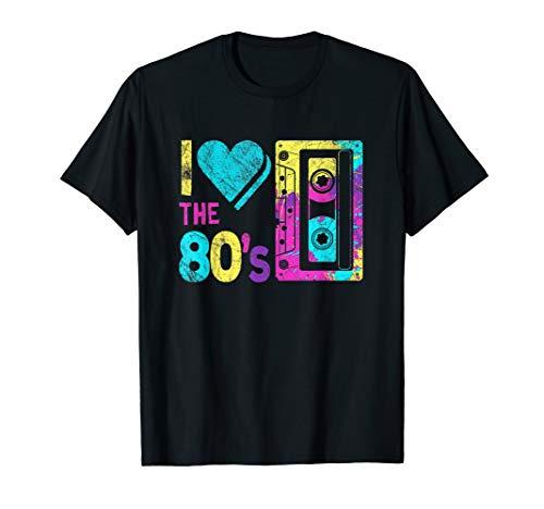 I Love the 80s Neon Tape T-Shirt foe Men, Women, Kids