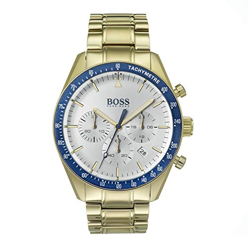 Hugo Boss Watch Reloj Cronógrafo para Hombre de Cuarzo con Correa en Bañada en Oro 1513631: Amazon.es: Relojes