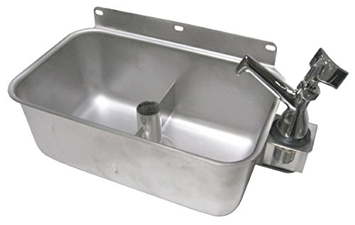 ACE Stainless Steel Table Mount Dipperwell Sink with No Lead Faucet ()