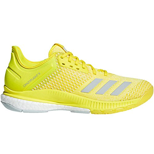 first rate 7cfb2 4f941 adidas Women s Crazyflight X 2 Volleyball Shoe, Shock Yellow ash Silver  White, 9.5 M US  90.56USD