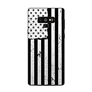 Back and Sides Printed Sticker Wrap For Samsung Galaxy Note 9 - Black & White