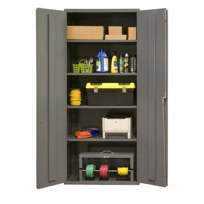 Durham 16 Gauge Welded Steel Industrial Duty Strength Storage Cabinet, 2603-4S-95, 4 Adjustable Shelves by Durham