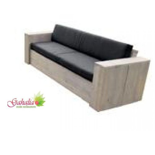 Bauholz Möbel Lounge Bank Gartenbank gahalia 240x85x70cm (ohne Kissen)