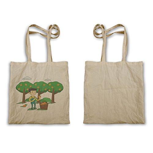 Tote Bag Uomo Arancione Azienda Agricola Q890r