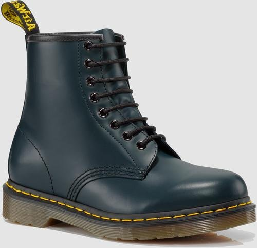 Dr. Martens 1460 Originals 8 Eye Lace Up Boot,Navy Smooth Le