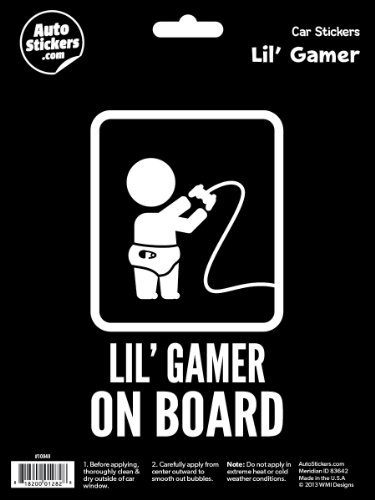 (WMI Designs (10040) Lil' Gamer on Board Sticker )
