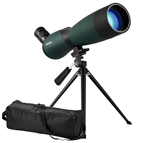 Aurosports 25-75x70mm HD Spotting Scope Waterproof Optics Zoom Fogproof Monocular Telescope for Bird Watching, Hunting, Target Shooting, Archery Wildlife Scenery with Tripod and Soft Case