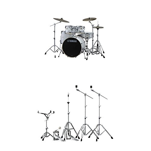 Yamaha Stage Custom Birch Standard Drum Kit with Hardware, Pure White ()