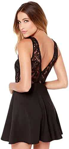 10fb02dcfb6 Makulas Women Backless Lace Mini Dress Sleeveless Prom Cocktail Party Dress  Summer Casual Beach Sexy Dress