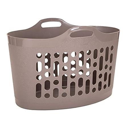 Latte 50 Litre Wham Flexible Plastic Flexi-Store Laundry Basket