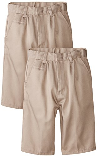 Genuine Big Boys Flat Front Shorts (Pack of 2), Khaki,10 - Genuine Boys Shorts